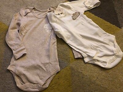 Bnwt 12-24 Months Unisex Long Sleeved Bodysuit Vests Baby