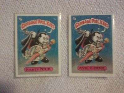 SERIES 1 Garbage Pail Kids 1985 complete base set 71/82 glossy NM/M lot GPK OS1