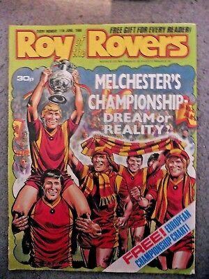 Roy Of The Rovers Comic 11/6/1988 Vintage Rare Vgc