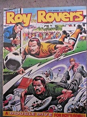 Roy Of The Rovers Comic 9/7/1988 Vintage Rare Vgc