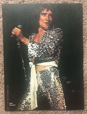 ROD STEWART - 1970s full page UK magazine annual poster