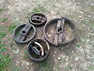 Line Shaft Pulleys Wood Vintage
