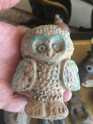 #23 OWL Ancient PRE-COLUMBIAN ECUADOR and PERU 300BC JAMA-COAQUE BLUE PIGMENT