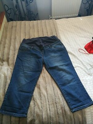 Maternity cropped jeans size 16 from E-ve