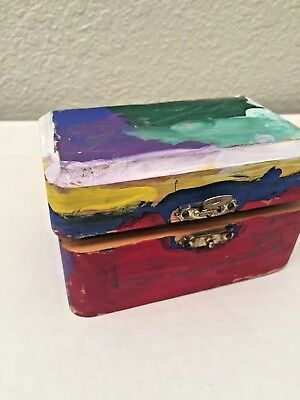 Small Metal clasp Jewelry Case Handmade Wooden Box