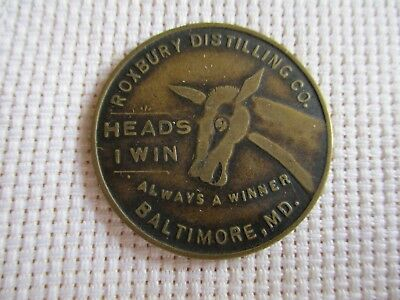 Vintage Drink Roxbury Rye Whiskey Flipper Token, Baltimore, Maryland,MD.