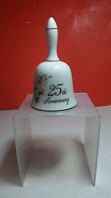 25Th Anniversary Collectible Porcelain Dinner Bell Papel California Made Japan