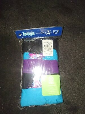 5PK size 14-16 boys briefs