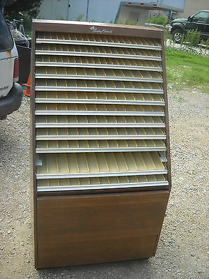 belding corticelli sewing thread cabinet store display wooden sides #2
