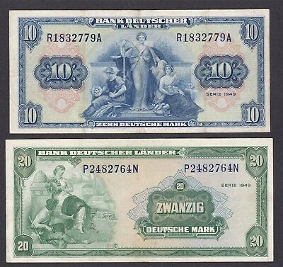 -Auction- Germany 1949 10 P-16 And 20 P-17 Mark