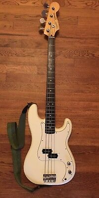 Fender Squier Japanese Precision Bass Made in Japan 1993 - Olympic White - NICE!