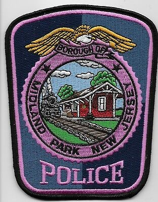 Pink patch Midland Park Police State New Jersey Nj Train patch NEAT