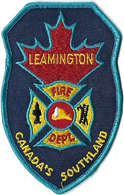 Leamington Canada Fire Department Canada's Southland Patch