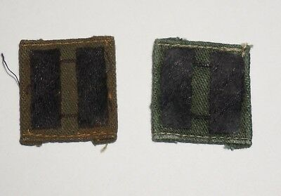 Captain Rank Insignia Sew On CIB Vietnam Theater Made Patches US Army P7812