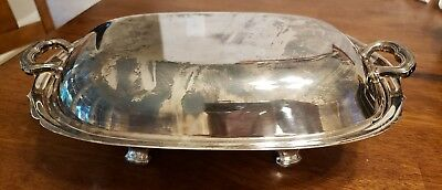 """10"""" Oval Double VegetableAmesbury (Silverplate, Hollowware)byWALLACE SILVER"""