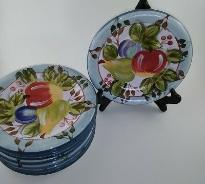"Heritage Mint Black Forest Fruits 8"" salad plate New w/ tags (set of 8)"