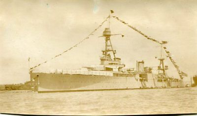 Original Photograph-USS Houston Dressed Out for Holiday on Huangpu River-1931