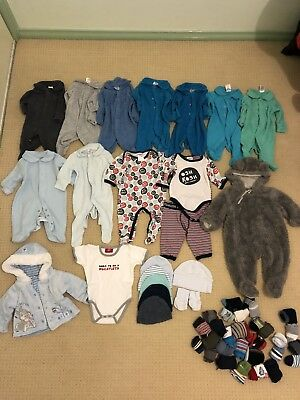 50+ pieces bulk baby boys clothing Size 000 0-3 months excellent condition