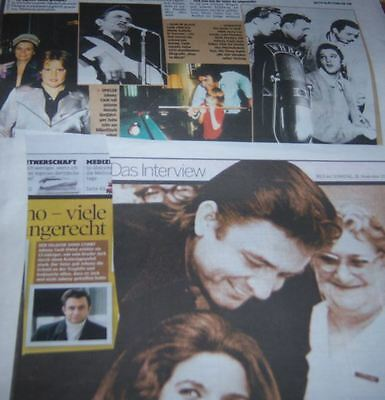 Johnny Cash 20 pc German Clippings
