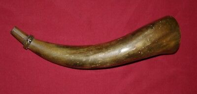 Powder Horn With Nice Spout Carving, Buy It Now
