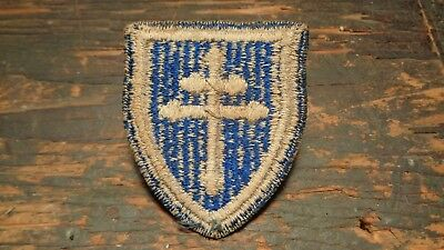 WWII vintage 79th Infantry Division patch CROSS OF LORRAINE uniform removed