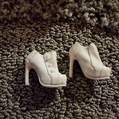 """Mint Nigel Chia DeMuse """"booties"""" in white. Pearl buttons. New, never worn."""