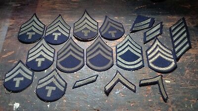 WWII vintage lot of US Army / AAF enlisted winter uniform rank chevron patches