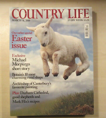 Country Life Magazine 31st March 2010 Easter Issue Morpurgo, Durham Cathedral