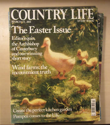 Country Life Magazine 27th March 2013 Easter Issue Wind Farms & Pompeii