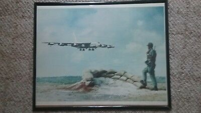 "Vietnam Lithograph Print, B-52 Returning from Mission over Vietnam, 16"" X 20"""