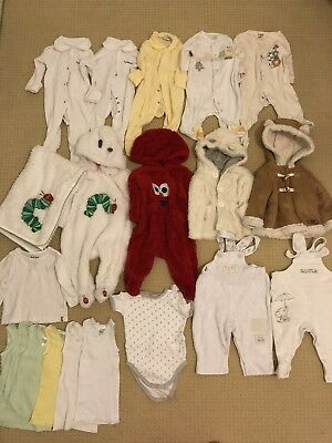 bulk unisex baby boy girl clothing 3-6 months size 00 good used condition