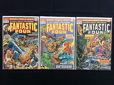 FANTASTIC FOUR Lot of 3 Marvel Comic Books - #139 143 144!