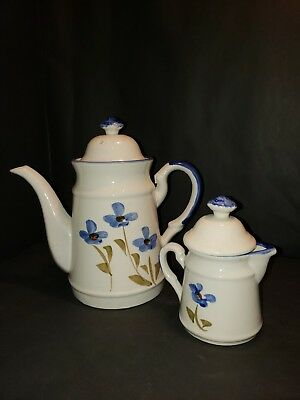 Vintage Shawnee Pottery  styled teapot and creamer