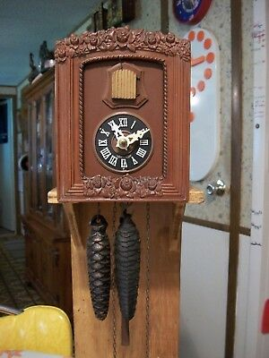 Vintage Rare Smaller  Cuckoo Clock w/ Flowers               Germany