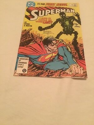 Superman #1 DC Comics 1987 Signed by Terry Austin With COA 1095/2500 NM