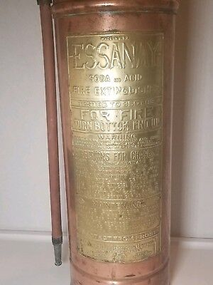 Copper & Brass Essanay Soda & Acid Vintage Fire Extinguisher
