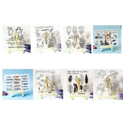Various Themes Transparent Silicone Clear Rubber Stamp DIY Scrapbooking Card
