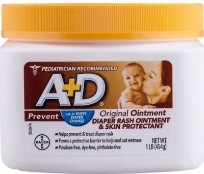 A+D Original Diaper Rash Ointment, Skin Protectant With Lanolin