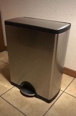 Simplehuman 50 Liter/13.2 Gallon Stainless Steel Kitchen Step Trash Can