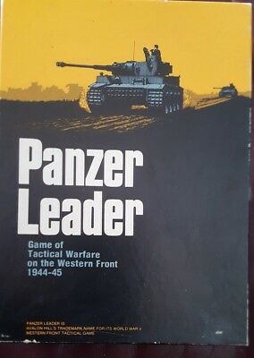 1974 Avalon Hill Panzer Leader - Tactical Warfare Game - Western Front
