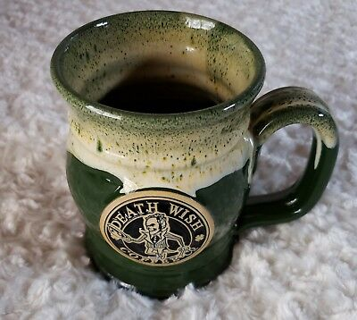 Death Wish Coffee St. Patrick's Day 2015 Mug LUCKY LARRY Deneen Rare!!! 37/1000