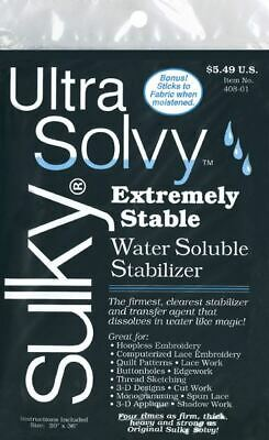 Ultra Solvy Water - Soluble Stabilizer - 19.5 inch x 36 inch