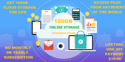 100Gb Cloud Backup Storage For Life Only For £19.99 For Limited Time Only