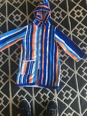 TERRY RICH BEACH OR SWIM ROBE WITH HOOD FOR CHILDREN - Size 6