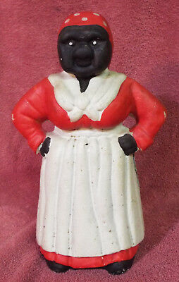 Vintage Antique Aunt Jemima Cast Iron Piggy Bank Door Stop