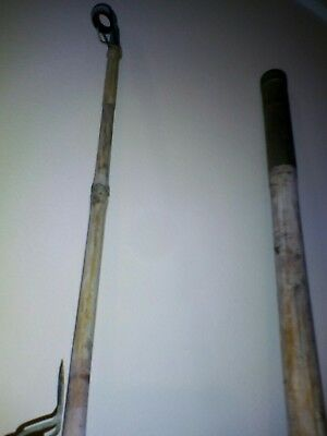 Vintage bamboo fishing rod and reel