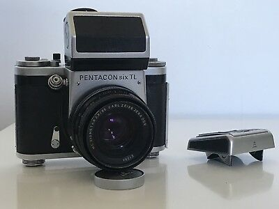 Pentacon Six TL With Zeiss 80mm Biometar And 2 Finders