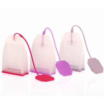 Silicone Mesh Loose Spice Herbal Tea Bag Leaf Infuser Strainer Filter DiffusePB