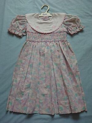 Vintage Marquise Girls Party Dress Size 4 Pink Butterflies Wedding Flower Girl