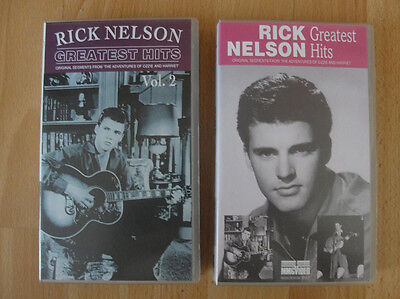 Rick / Ricky Nelson 2 x VHS Greatest Hits Oldies